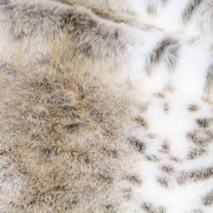 Fausse fourrure de luxe Tissu fausse fourrure imitation lynx couleur beige – 1367 Beige lynx