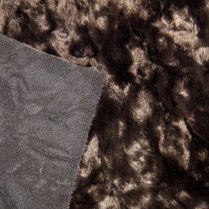 Fausse fourrure au mètre Tissu fausse fourrure super doux plissé brun foncé – 1164 dk-brown