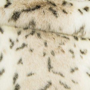 Fausse fourrure au mètre Tissu fausse fourrure imitation lynx couleur crème – 1367 Cream Lynx