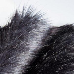 Fausse fourrure au mètre Fausse fourrure imitation renard bleu pétrole – 1390 D.Blue / Black