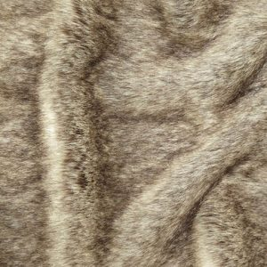 Fausse fourrure de luxe Tissu fausse fourrure super doux beige/brun – 1446 Beige Brown