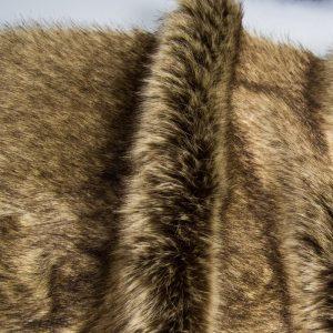 Fausse fourrure au mètre Tissu fausse fourrure super doux beige/brun – 1446 Beige Brown
