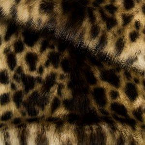 Fausse fourrure au mètre Tissu fausse fourrure imitation léopard beige/brun – 1481 Snow Leopard Beige Brown