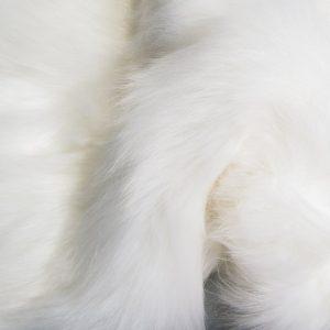 Fausse fourrure au mètre Fausse fourrure sibérienne de luxe blanc arctique – 1539 Siberian Arctic White