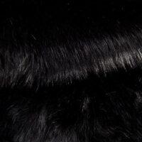 Fausse fourrure au mètre Fausse fourrure sibérienne de luxe noire – 1539 Siberian Black