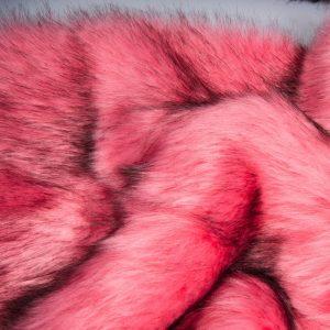 Fausse fourrure au mètre Fausse fourrure sibérienne de luxe rose – 1539 Siberian Rose