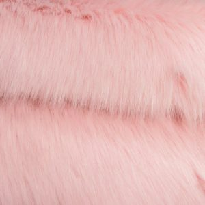 Fausse fourrure au mètre Fausse fourrure sibérienne de luxe rose crème – 1539 Siberian Strawberry Cream