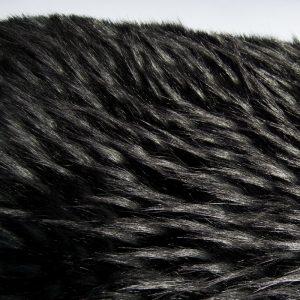 Fausse fourrure au mètre Tissu fausse fourrure gris-noir imitation raton-laveur – 1546 Grey Black Raccoon