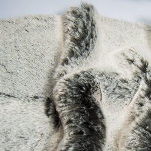 Fausse fourrure au mètre Tissu fausse fourrure super doux gris/blanc – 1551 Grey White