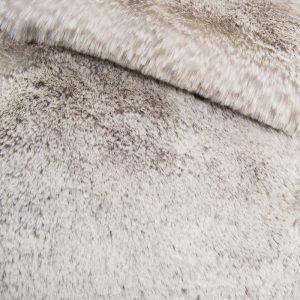 Fausse fourrure au mètre Tissu fausse fourrure super doux blanc/gris – 1551 Silver Frost