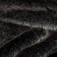 Fausse fourrure au mètre Tissu fausse fourrure super doux noir avec reflet gris – 1557 Black White