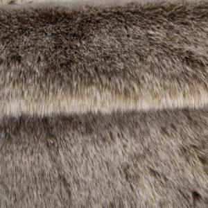 Fausse fourrure au mètre Tissu fausse fourrure super doux beige et blanc – 1557 Lt.Brown/White