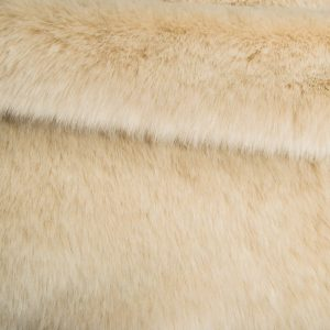 Fausse fourrure au mètre Tissu fausse fourrure super doux blanc sable – 1557 Sand White