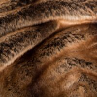 Fausse fourrure au mètre Tissu fausse fourrure super doux chinchilla or / brun – 3011 Brown Gold