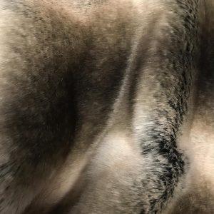 Fausse fourrure de luxe Tissu fausse fourrure super doux chinchilla crème beige / brun – 3011 Grey Rabbit