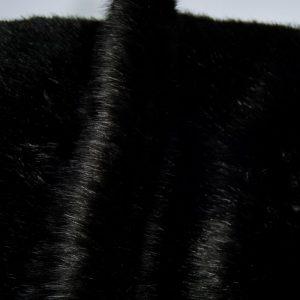 Fausse fourrure au mètre Fausse fourrure de luxe super douce noire – 3025 Black
