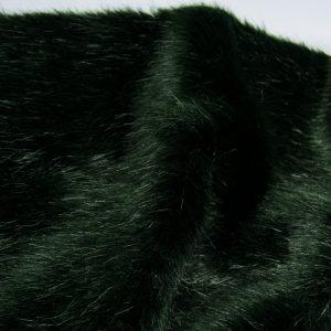 Fausse fourrure de luxe Fausse fourrure de luxe super douce vert foncé – 3025 Bottle Green