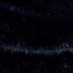 Fausse fourrure de luxe Fausse fourrure de luxe super douce bleu foncé – 3025 Blue/Black