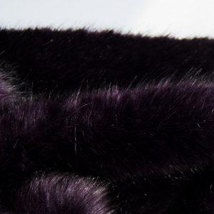 Fausse fourrure de luxe Fausse fourrure de luxe super douce violet noir – 3025 Purple Black
