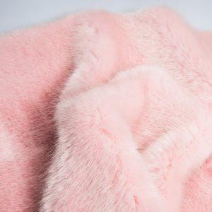 Fausse fourrure de luxe Fausse fourrure de luxe super douce rose crème – 3025 Strawberry / Cream