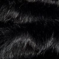 Fausse fourrure au mètre Fausse fourrure de luxe noire super douce – 3080 Black