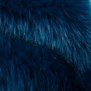 Fausse fourrure au mètre Fausse fourrure de luxe bleu pétrole super douce – 3080 Blue