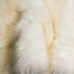 Fausse fourrure au mètre Fausse fourrure de luxe blanc crème super douce – 3080 Cream
