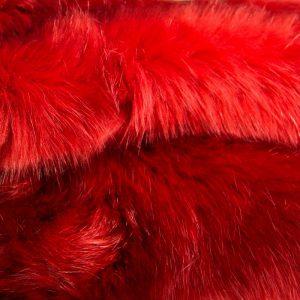 Fausse fourrure au mètre Fausse fourrure de luxe rouge terracotta super douce – 3080 Terracotta