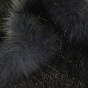 Fausse fourrure de luxe Fausse fourrure imitation renard bleu pétrole – 1390 D.Blue / Black