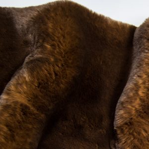 Fausse fourrure au mètre Tissu fausse fourrure super doux brun foncé – 3105 Brown/Dk.Brown