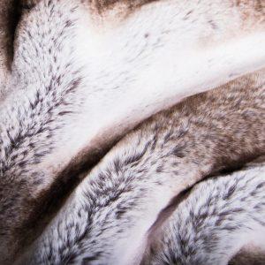 Fausse fourrure au mètre Tissu fausse fourrure super doux chinchilla naturel – 3106 Silver Chinchilla