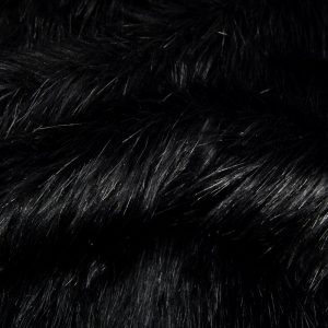 Fausse fourrure au mètre Fausse fourrure imitation renard noire – 7552 Black