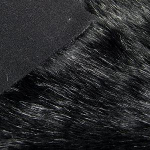 Fausse fourrure de luxe Fausse fourrure imitation renard noire – 7552 Black