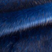 Fausse fourrure au mètre Fausse fourrure imitation renard bleu cobalt – 7552 Cobalt Black