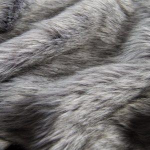 Fausse fourrure de luxe Fausse fourrure imitation renard gris foncé – 7552 Grey Stone