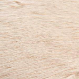 Fausse fourrure de luxe Fausse fourrure imitation renard vieux rose – 7552 Pink / White