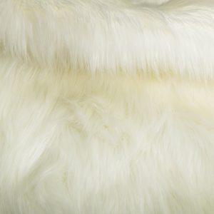 Fausse fourrure au mètre Fausse fourrure imitation renard blanc naturel – 7552 R-White
