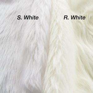 Fausse fourrure au mètre Fausse fourrure imitation renard blanc pur – 7552 S. White