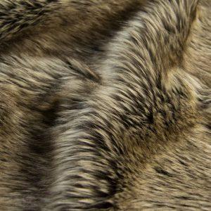 Fausse fourrure de luxe Fausse fourrure imitation renard gris foncé / argent – 7552 Stone Silver