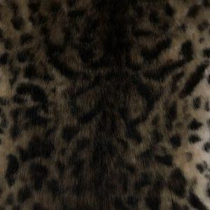 Fausse fourrure de luxe Tissu fausse fourrure imitation léopard beige/brun – 1481 Snow Leopard Beige Brown