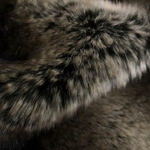 Fausse fourrure au mètre Tissu fausse fourrure super doux chinchilla brun argenté – 3011 Brown/Silver