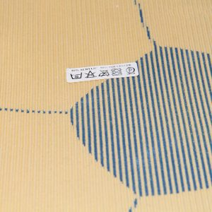 Produits finis Tapis en fourrure super douce motif football blanc/orange diamètre 70 cm