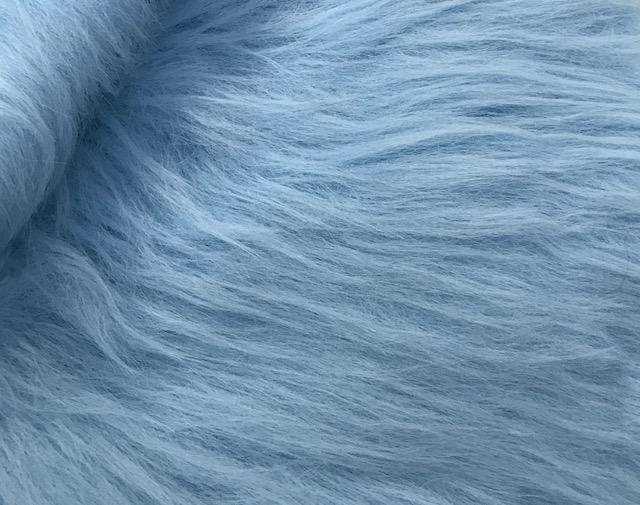 Fausse fourrure au mètre Fausse fourrure bleue à poil long – AC356-B. Blue