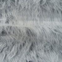 Fausse fourrure au mètre Fausse fourrure noir givré à poil long – YF360-Black Frost