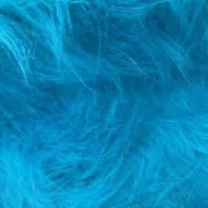 Fausse fourrure au mètre Fausse fourrure bleu ciel à poil long – AC356-Blue Mood