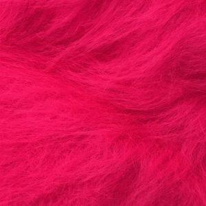Fausse fourrure au mètre Fausse fourrure rose cerise à poil long – AC356-Cerise