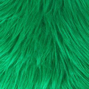 Fausse fourrure au mètre Fausse fourrure vert émeraude à poil long – AC356-Emerald
