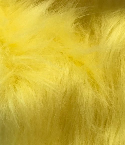 Fausse fourrure au mètre Fausse fourrure jaune à poil long – AC356-Flavine