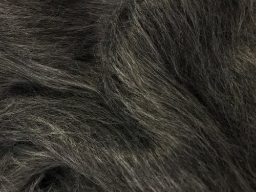 Fausse fourrure au mètre Fausse fourrure gris foncé à poil long – AC356-Dark Grey