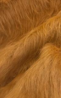 Fausse fourrure au mètre Fausse fourrure miel-or à poil long – AC356-Honey